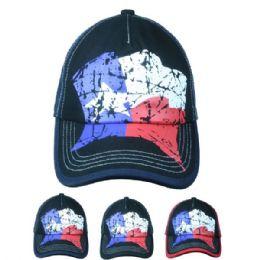 24 Units of Texas Cap In Assorted Colors - Baseball Caps & Snap Backs