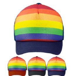 24 Units of Rainbow Colored Cap - Baseball Caps & Snap Backs
