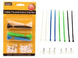 96 Units of 120 Pieces Cable Ties & Cable Clip - Cables and Wires