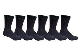 6 Pair Of excell Diabetic Neuropathy Knee High Socks, Edema, Loose Fitting (Black, 10-13) - Mens Thermal Sock