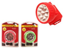 48 Units of 9 Led Headlight W/Strap - Lamps and Lanterns
