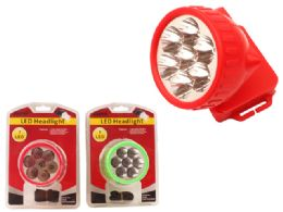 48 Units of 7 Led Headlight W/Strap - Lamps and Lanterns