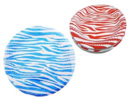 96 Units of 10 Piece Zebra Printed Plates - Disposable Plates & Bowls