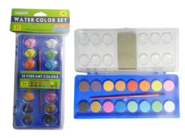 72 Units of 16 Colors Water Color Set - Paint, Brushes & Finger Paint