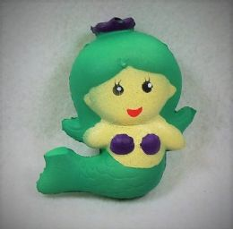 12 Units of Slow Rising Squishy Toy Green Mermaid - Slime & Squishees