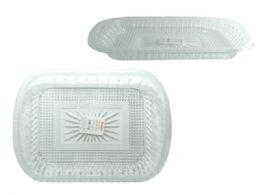 48 Units of Rectangular Crystal-like Tray - Serving Trays