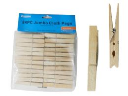 96 Units of 24pc Cloth Pegs - Clothes Pins