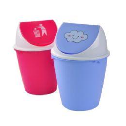 24 Units of Trash Can Flip Top - Waste Basket