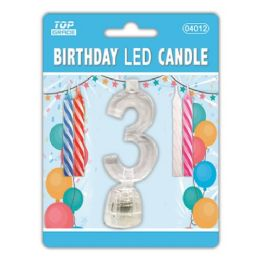 96 Units of Number Three Led Candle - Birthday Candles
