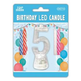 96 Units of Number Five Led Candle - Birthday Candles