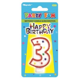 441 Units of Birthday Candle Number Three - Birthday Candles