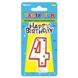144 Units of Birthday Candle Number Four - Birthday Candles