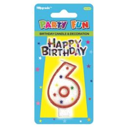 144 Units of Birthday Candle Number Six - Birthday Candles