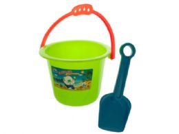60 Units of Colorful Sand Pail & Shovel Set - SUMMER TOYS