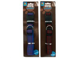 72 Units of Adjustable Woven Dog Collar - Pet Collars and Leashes
