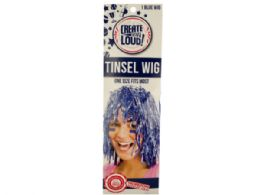 72 Units of Blue Tinsel Wig - Costumes & Accessories
