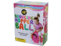 12 Units of Bouncing Hopper Ball with Dog Design - Balls