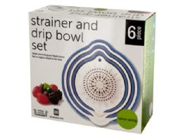 12 Units of Strainer & Drip Bowl Set - Strainers & Funnels