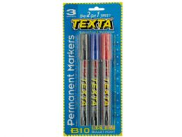 144 Units of Bullet Point Permanent Markers Set - Markers and Highlighters
