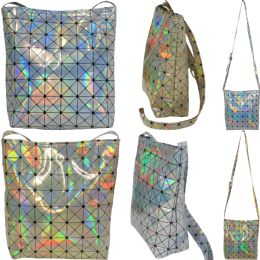 36 Units of Large Holographic Geometric Print Cross Body Bucket Bag. - Shoulder Bags & Messenger Bags