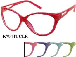 48 Units of Kids Plastic Frame Eye Glasses Assorted Color - Eyeglass & Sunglass Cases