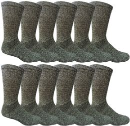 240 Units of Mens Ringspun Cotton Ultra Soft Crew Sock Size 10-13 Marled Navy - Mens Crew Socks