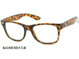 48 Units of Kids Large Plastic Eye Glasses - Eyeglass & Sunglass Cases