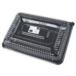 36 Units of 10x14in Plastic Serving Tray W/lid - Kitchen Trays