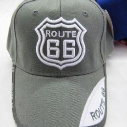 """24 Units of """"route 66 """" Base Ball Cap - Baseball Caps & Snap Backs"""