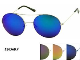 48 Units of Round Metal Sunglasses Assorted - Eyeglass & Sunglass Cases
