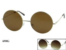 48 Units of Round Metal Sunglasses - Eyeglass & Sunglass Cases