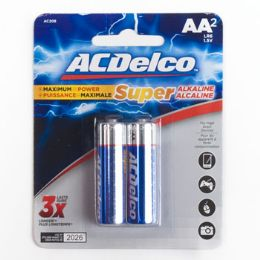48 Units of 2pk Aa Alkaline Batteries Ac Delco Carded - Batteries