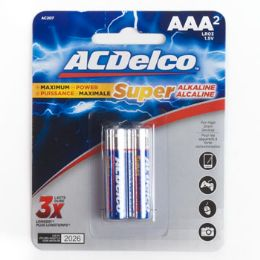 48 Units of 2pk Aaa Batteries Alkaline Ac Delco Carded - Batteries