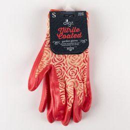 72 Units of Womens Garden Stretch Knit Gloves W/knife Coating - Gardening Gloves