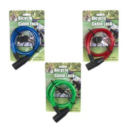48 Units of Bicycle Lock W. 2 Keys - Biking