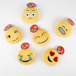 72 Units of 9in Plush Emoticons Dog Toy W/ Squeaker - Pet Toys