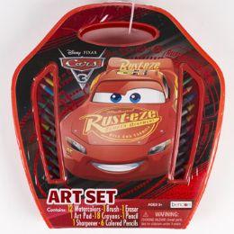 12 Units of Art Set Case Disney Cars 3 Large 41pc Set - Toy Sets