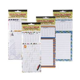 48 Units of 2019 Magnetic Calendar W/60sht List Pad Ast Design Opp/hdr - Calendars & Planners