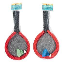 12 Units of Badminton Set Oversize Foam 2 Rackets & 1 Shuttlecock - Sports Toys