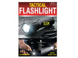 12 Units of Waterproof Tactical Zoom Flashlight with 5 Settings - Flash Lights