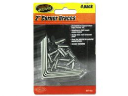 72 Units of Corner Braces With Mounting Hardware - Hardware Miscellaneous
