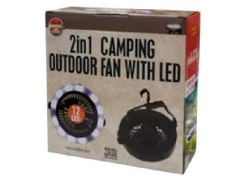 6 Units of 2 in 1 Camping Outdoor Fan with LED Light - Lamps and Lanterns
