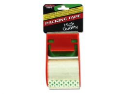 72 Units of Packing Tape with Dispenser - Boxes & Packing Supplies