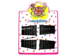 72 Units of Black Bobby Pin Set - Hair Accessories