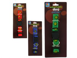 72 Units of Happy Face Dog Collar - Pet Collars and Leashes
