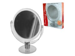 12 Units of Dual Sided Round Stand Up Vanity Mirror - Wall Decor
