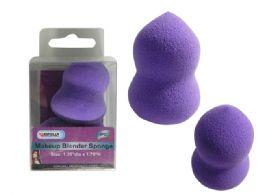 144 Units of 2 Pc Mini Cosmetic Makeup Sponge Applicators - Cosmetics