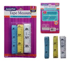 96 Units of 3 Piece Tape Measures - Tape Measures and Measuring Tools