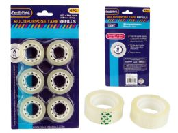 96 Units of 6 Piece Stationery Tape Refills - Tape