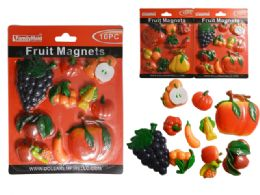 96 Units of 10 PC Fruit & Veggie Magnets - Refrigerator Magnets